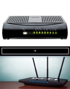 how to connect a router to a modem router combo