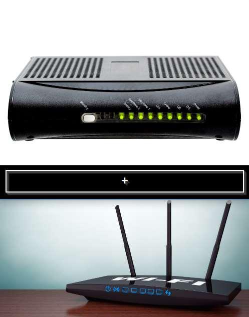 cable modem plus router