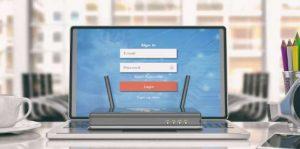 computer router login screen