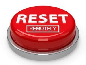 reset remotely button